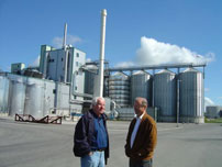 Tom Mangold at Swedish ethanol factory