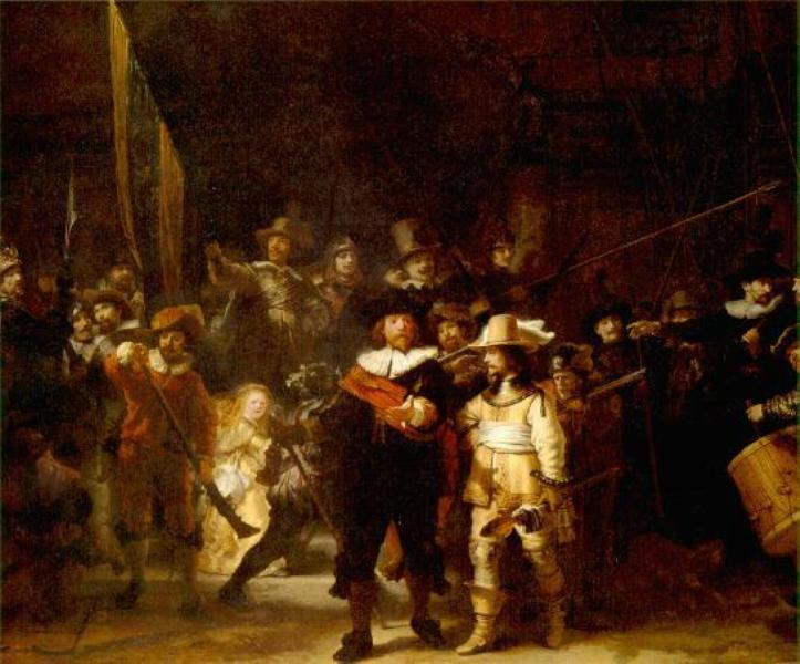 'Night Watch' by Rembrandt